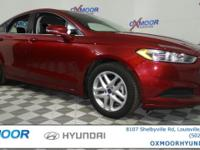 New Price! Ford Fusion SE CARFAX One-Owner. Clean