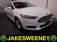 Our One Owner 2016 Ford Fusion SE is stunning in White!