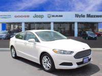 2016 FORD FUSION SE IN OXFORD WHITE!!  MAXWELL FOREVER
