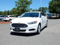 2016 Ford Fusion SE in Oxford White. Please don't