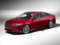6-Speed Automatic, AWD.  Black 2016 Ford Fusion