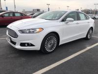 2016 Ford Fusion Titanium Oxford White Certified by