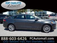 CARFAX One-Owner. Chrome 2016 Ford Fusion Titanium FWD
