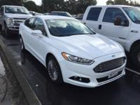 2016 Ford Fusion Titanium in Oxford White, ***ONE