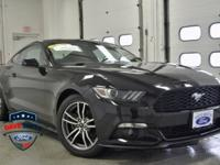 CARFAX One-Owner. Shadow Black 2016 Ford Mustang