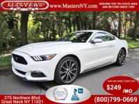 This Incredible White 2016 Ford Mustang Coupe Comes