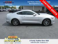 This 2016 Ford Mustang EcoBoost in Ingot Silver