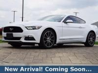 2016 Ford Mustang EcoBoost in Oxford White, This