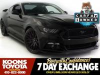 2016 FORD MUSTANG GT IN SHADOW BLACK, BACKUP CAMERA,