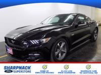 Black 2016 Ford Mustang GT 2D Coupe RWD 6-Speed 5.0L V8