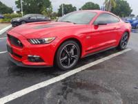 Clean CARFAX. Red 2016 Ford Mustang GT RWD 6-Speed
