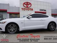 Clean CARFAX. White 2016 Ford Mustang GT 2D Coupe RWD