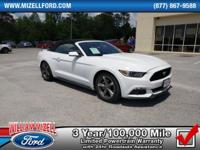 This 2016 Ford Mustang 2dr Conv V6 is proudly offered