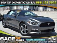 Clean CARFAX. Gray 2016 Ford Mustang V6 2D Convertible