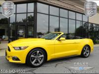 2016 FORD Mustang V6 Convertible... Triple Yellow