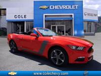 2016 FORD MUSTANG CONVERTIBLE V6 WITH POWER CONVERTIBLE