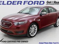 New Price! 2016 Ford Certified. Taurus 4D Sedan Limited