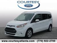 This 2016 Ford Transit Connect Titanium in Frozen White