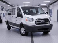 2016 Ford Transit-350 XLT White CARFAX One-Owner. Clean