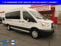 ONE OWNER, BACKUP CAM, ECO BOOST ENGINE, Transit-350
