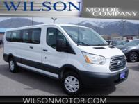 CARFAX One-Owner. White 2016 Ford Transit-350 XLT RWD