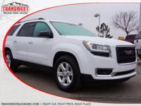 Options:  2016 Gmc Acadia Sle-1|White|Black Cloth|Suv