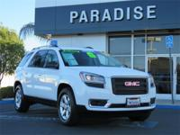 CARFAX One-Owner. Clean CARFAX. White 2016 GMC Acadia