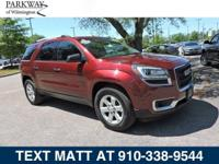 CARFAX One-Owner. Clean CARFAX. Crimson Red 2016 GMC