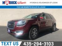 AWD! Fully Loaded!   Crimson Red 2016 GMC Acadia SLT-1