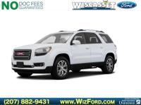 Clean CARFAX. Summit White 2016 GMC Acadia SLT-1 AWD