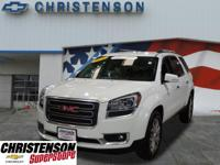 2016+GMC+Acadia+SLT-1+In+Summit+White+GM+CERTIFIED+ONE+