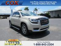 This 2016 GMC Acadia SLT-1 in is well equipped with: