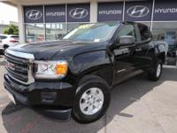 CARFAX One-Owner. Onyx Black 2016 GMC Canyon RWD