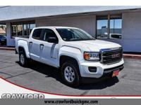 Clean CARFAX. White 2016 GMC Canyon RWD 6-Speed