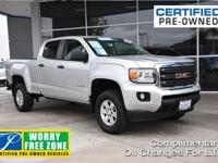 New Price! Clean CARFAX. Certified. Silver 2016 GMC