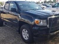 Certified. Onyx Black 2016 GMC Canyon RWD 6-Speed