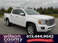 2016 GMC Canyon SLT 3.6L V6 DGI DOHC VVT Summit White