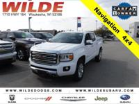 Options:  2016 Gmc Canyon 4Wd Slt|Summit White/Jet