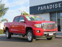 CARFAX One-Owner. Clean CARFAX. Red 2016 GMC Canyon SLT