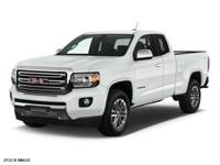 2016 GMC Canyon SLT White One Owner, Fresh Oil Change,