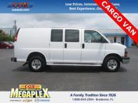 This 2016 GMC Savana G2500 Work Van in Summit White is