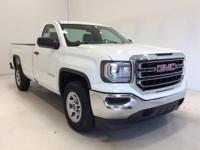 Options:  2016 Gmc Sierra 1500 Base|White|*Remote
