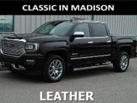 This one owner, 2016 GMC Sierra has leather upholstery,