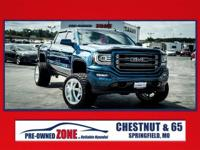 2016 GMC Sierra 1500 SLT in Stone Blue Metallic with