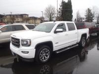 CARFAX One-Owner. 2016 GMC Sierra 1500 SLT White Fresh