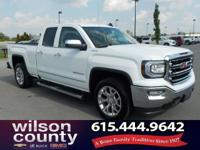2016 GMC Sierra 1500 SLT V8 Summit White CARFAX