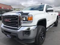 CARFAX One-Owner. 2016 GMC Sierra 2500HD SLE White