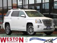 CARFAX One-Owner. 2016 GMC Terrain Denali White Frost