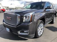 CARFAX One-Owner. 2016 GMC Yukon Denali Gray 4WD, Blind