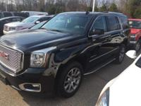 2016 GMC Yukon Denali in Black and GM Certified.